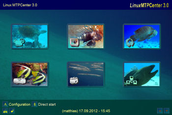 Main menu with underwater Layout